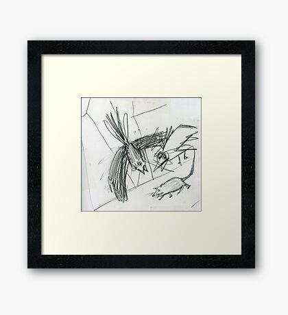 Raw sketch Framed Print