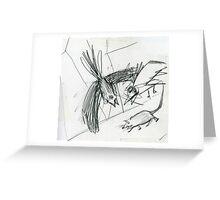 Raw sketch Greeting Card