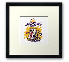 Retro Music Party Poster Framed Print