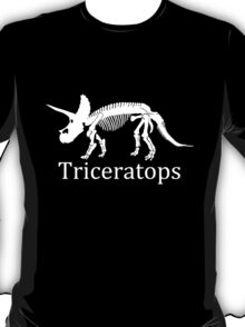 Triceratops Skeleton Fossil T-Shirt
