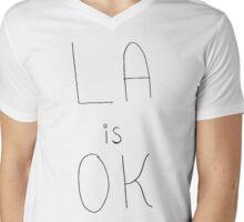 LA is OK Mens V-Neck T-Shirt