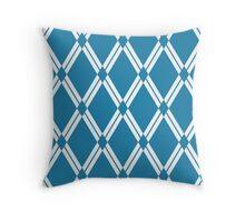 Blue Argyle Diamonds Throw Pillow