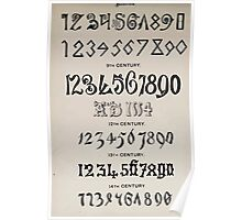The Signist's Book of Modern Alphabets Freeman F Delamotte 1906 0201 Nineth 9th Through Fourteenth 14th Century Poster