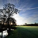 - Sun Rising over Chelsworth Water Meadows by Christopher Cullen