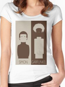 Simon and Garfunkel Women's Fitted Scoop T-Shirt