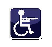 Handicap Icon Photographic Print