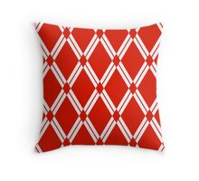 Red Argyle Diamonds Throw Pillow