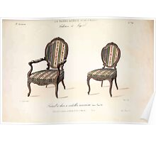 Le Garde Meuble Desire Guilmard 1839 0047 High Style Seat Furniture Interior Design Poster