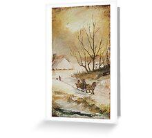 Walking in snow Greeting Card