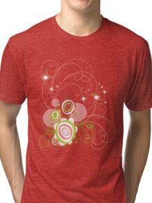 Sweet Groovy Pink Wild Blooms Tri-blend T-Shirt
