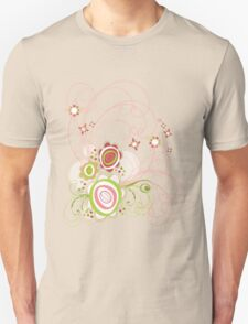Sweet Groovy Pink Wild Blooms Unisex T-Shirt
