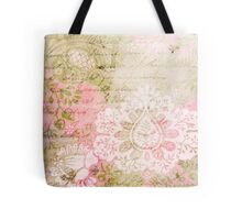 Romantic Vintage Damask Tote Bag