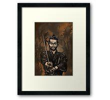Samurai warrior. Framed Print
