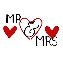 Mr and Mrs 1 Photographic Print