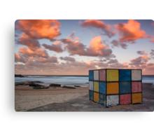 Rubiks on the beach Canvas Print