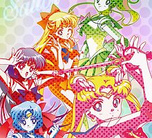 Sailor Senshi Dots Version by Rickykun