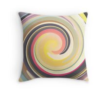 Vintage Colors In Curves Throw Pillow