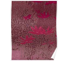 Wild Meadow in Fushia Poster
