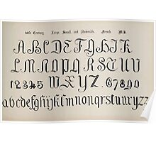 The Signist's Book of Modern Alphabets Freeman F Delamotte 1906 0181 Sixteenth 16th Century Large Small and Numerals French Poster