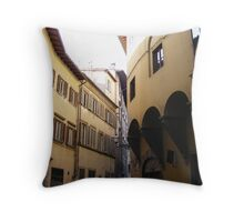Buildings in a Florence Street Throw Pillow