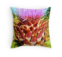 Psychedelic Vegetable Throw Pillow
