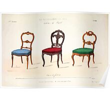 Le Garde Meuble Desire Guilmard 1839 0031 High Style Seat Furniture Interior Design Poster
