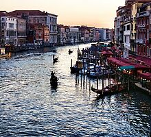Impressions Of Venice - a Classic View of the Grand Canal by Georgia Mizuleva