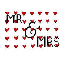 Mr and Mrs 3 Photographic Print