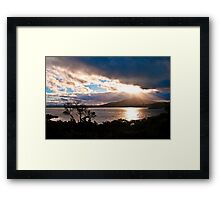 Inlet View 23/11/2010 Framed Print