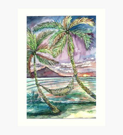 Caribbean Hammock Art Print