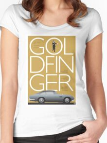 Goldfinger - James Bond Movie Poster Women's Fitted Scoop T-Shirt