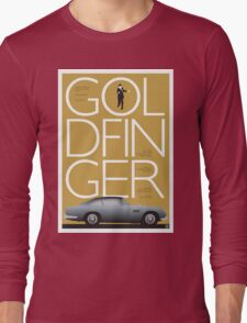Goldfinger - James Bond Movie Poster Long Sleeve T-Shirt