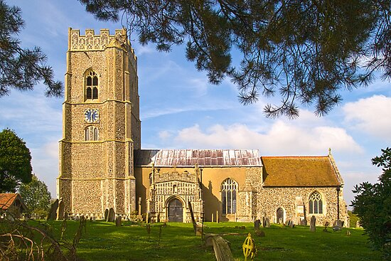 St.Mary Church Kersey by Geoff Carpenter