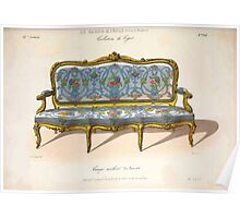 Le Garde Meuble Desire Guilmard 1839 0087 High Style Seat Furniture Interior Design Poster