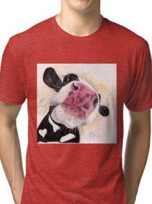 NOSEY COW 'NOSEY NELLIE' BY SHIRLEY MACARTHUR Tri-blend T-Shirt