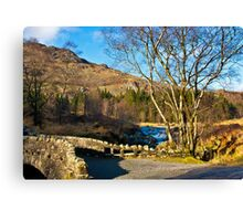 Birks Bridge over the River Duddon Canvas Print