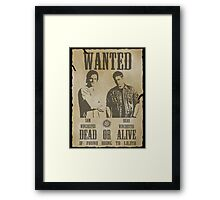 Supernatural - Wanted Dead or Alive  Framed Print