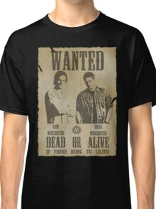 Supernatural - Wanted Dead or Alive  Classic T-Shirt