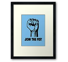 Join The Fist  Framed Print