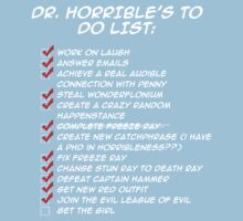 Dr. Horrible's To Do List  One Piece - Short Sleeve