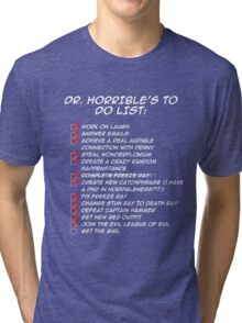 Dr. Horrible's To Do List  Tri-blend T-Shirt