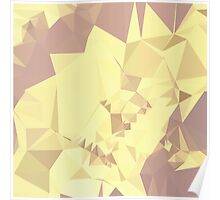 Arylide Yellow Abstract Low Polygon Background Poster