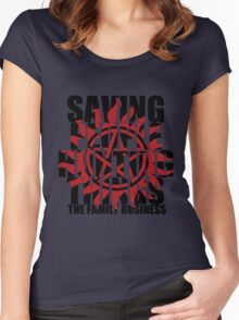 Supernatural - Saving People, Hunting Things  Women's Fitted Scoop T-Shirt