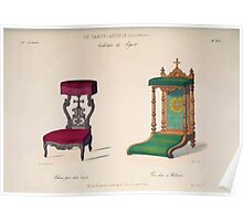 Le Garde Meuble Desire Guilmard 1839 0091 High Style Seat Furniture Interior Design Poster
