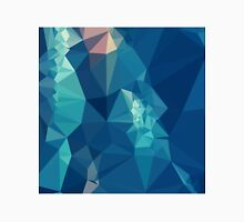 Ball Blue Abstract Low Polygon Background Unisex T-Shirt