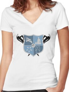 Joss Whedon Coat of Arms  Women's Fitted V-Neck T-Shirt
