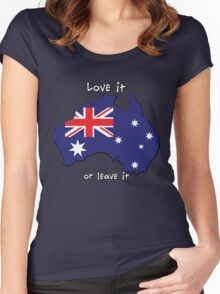 Australia | Love it - or leave it Women's Fitted Scoop T-Shirt