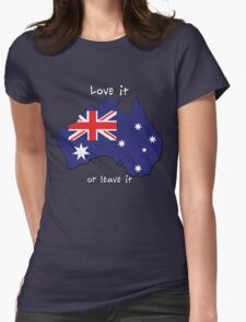 Australia | Love it - or leave it Womens Fitted T-Shirt