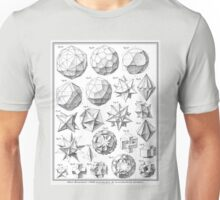 Max Bruckner 1906 polyhedra & icosahedron models Unisex T-Shirt