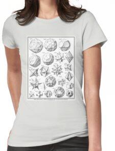 Max Bruckner 1906 polyhedra & icosahedron models Womens Fitted T-Shirt